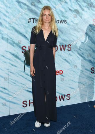 """Stock Picture of Elise Aarnink attends the world premiere of """"The Shallows"""" at AMC Loews Lincoln Square, in New York"""