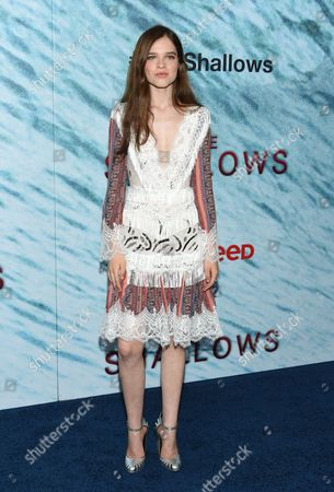 """Stock Picture of Actress Sedona Legge attends the world premiere of """"The Shallows"""" at AMC Loews Lincoln Square, in New York"""