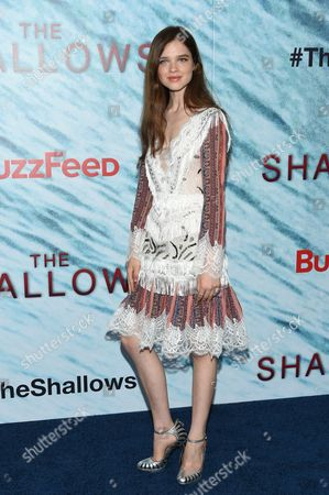 """Stock Photo of Actress Sedona Legge attends the world premiere of """"The Shallows"""" at AMC Loews Lincoln Square, in New York"""