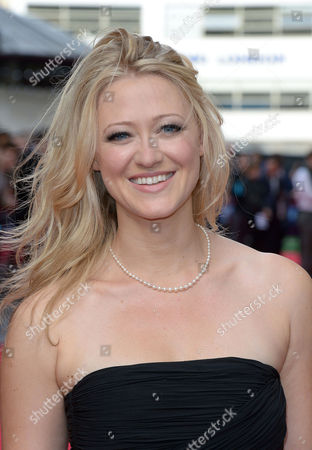 Siobhan Hewlett arrives at the world premiere of The Hummingbird at the Odeon West End in London on
