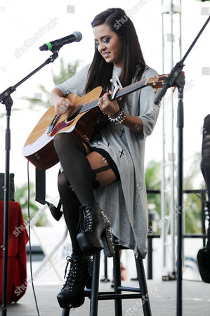 Megan Mace appears during the Y100's Jingle Ball 2012 at the BB&T Center on in Ft Lauderdale, Florida