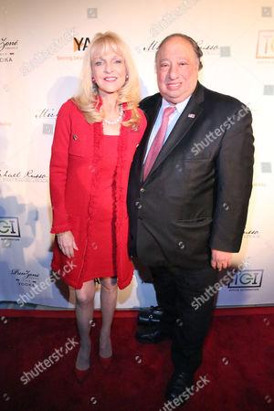 "John Catsimatidis poses with his wife, Margo at YAI's 56th Anniversary Gala, ""The Bridge to a new Era,"" on in New York"