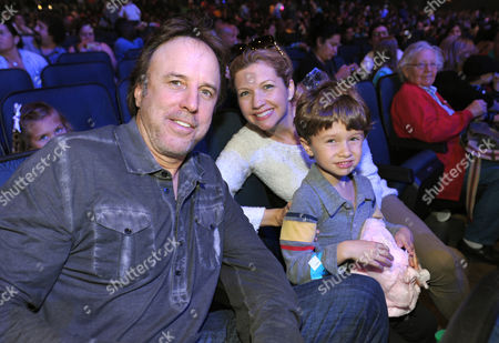 From left, Kevin Nealon, Susan Yeagley, and their son Gable Nealon attend Yo Gabba Gabba! Live!: Get The Sillies Out! 50+ city tour kick-off performance on Thanksgiving weekend at Nokia Theatre L.A. Live on in Los Angeles