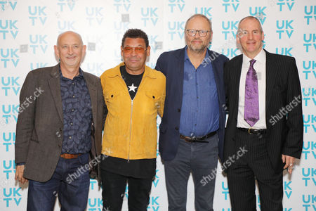 Stock Image of Doug Naylor, Craig Charles, Robert Llewelyn and Chris Barrie
