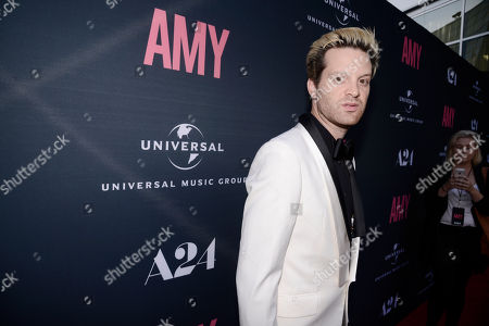 """Mayer Hawthorne seen at """"AMY"""" U.S. Premiere hosted by Lucian Grainge CBE, Universal Music Group and A24 at ArcLight Hollywood, in Hollywood, CA"""