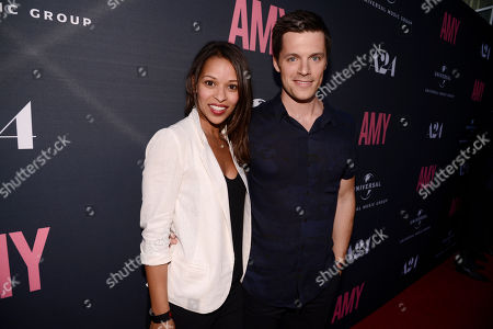 """Stock Image of Nick Jandl, right, and guest seen at """"AMY"""" U.S. Premiere hosted by Lucian Grainge CBE, Universal Music Group and A24 at ArcLight Hollywood, in Hollywood, CA"""