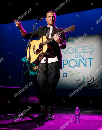 """Mark Ballas Jr. performs at """"Voices On Point"""" Concert & Gala held at The Wiltern theatre, in Los Angeles"""