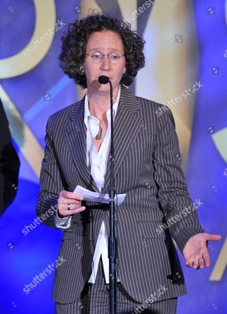 """Writer/executive producer Liz Friedman accepts the President's award for """"Elementary"""" at the 17th Annual Prism Awards Ceremony at The Beverly Hills Hotel, in Beverly Hills, Calif"""