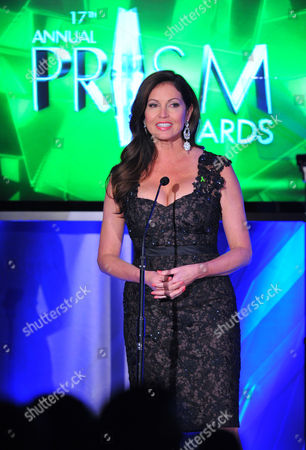 Actress Lisa Guerrero presents an award at the 17th Annual Prism Awards Ceremony at The Beverly Hills Hotel, in Beverly Hills, Calif