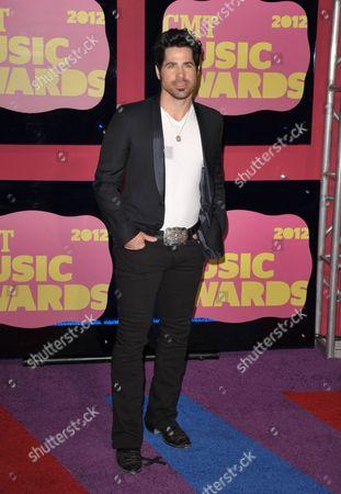 JT Hodges arrives at the 2012 CMT Music Awards on in Nashville, Tenn