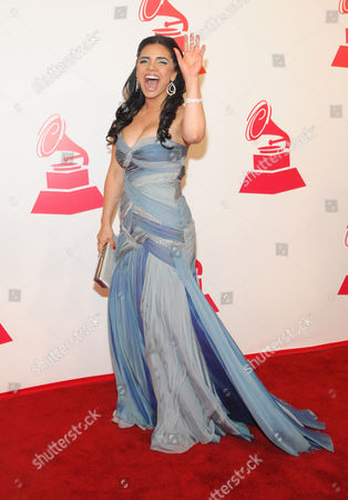 Karen Hoyos arrives at the 2012 Latin Recording Academy Person of the Year Tribute to Caetano Veloso at the MGM Grand Garden Arena, in Las Vegas