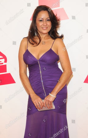 Stock Image of Dawn Diaz, CEO of Milagros Day Worldwide, arrives at the 2012 Latin Recording Academy Person of the Year Tribute to Caetano Veloso at the MGM Grand Garden Arena, in Las Vegas