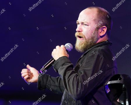 Stock Photo of Kyle Kinane performs in the comedy tent during Fun Fun Fun Fest on in Austin, Texas