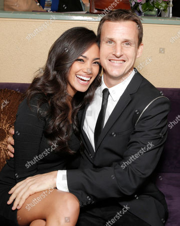 IMAGE DISTRIBUTED FOR BREEDERS' CUP - Rob Dyrdek, right, and Bryiana Noelle attend day 2 of the 2014 Breeders' Cup World Championships at Santa Anita Park, in Arcadia, Calif