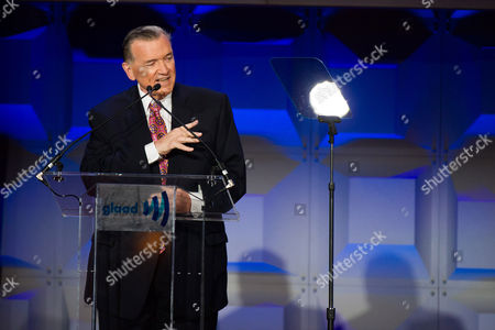 Stock Image of David Mixner appears on stage at the GLAAD Media Awards on in New York