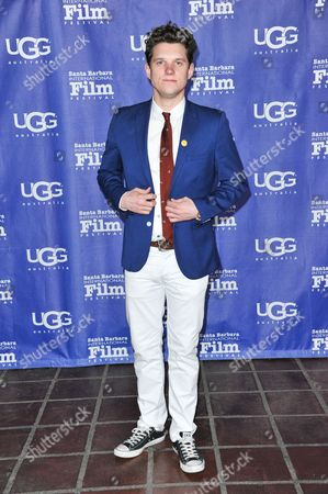 Stock Image of Alex Beh arrives at 2014 Santa Barbara International Film Festival - Outstanding Performer of the Year award ceremony on Saturday, Feb, 1, 2014 in Los Angeles
