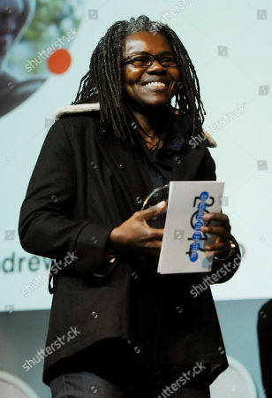Presenter Tracy Chapman looks on from the stage during the 2014 Sundance Film Festival Awards Ceremony, in Park City, Utah