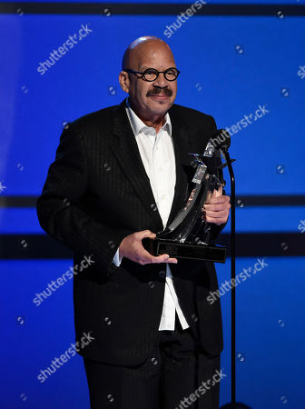 Tom Joyner accepts the humanitarian award at the BET Awards at the Microsoft Theater, in Los Angeles