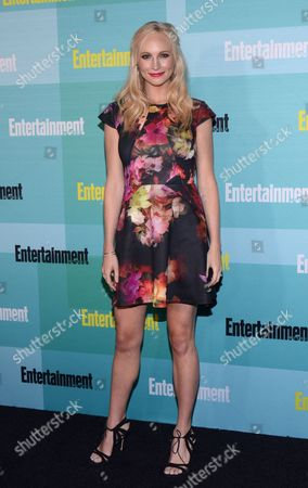 Candice Accola arrives at Entertainment Weekly's Annual Comic-Con Party at FLOAT at the Hard Rock Hotel on in San Diego, Calif
