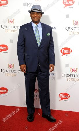 Warren Moon arrives on the red carpet at the 2015 Kentucky Derby on at Churchill Downs in Louisville, Ky