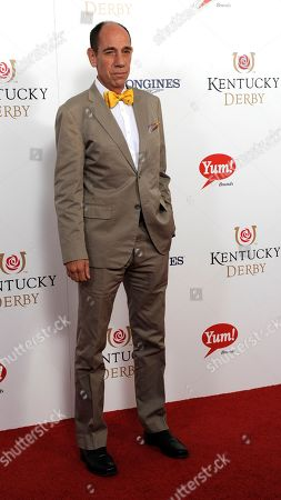 Miguel Ferrer arrives on the red carpet at the 2015 Kentucky Derby on at Churchill Downs in Louisville, Ky