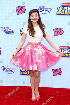 Olivia Stuck arrives at the 2015 Radio Disney Music Awards at Nokia Theatre L.A. Live on Saturday, April, 25, 2015 in Los Angeles