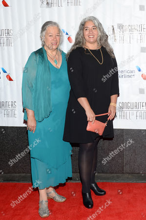 Carolyn Garcia, left, and Trixie Garcia attend the 46th Annual Songwriters Hall of Fame Induction and Awards Gala at the Marriott Marquis, in New York