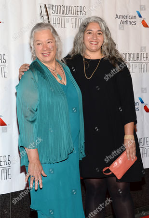 Carolyn Garcia, left, and Trixie Garcia attend the 46th Annual Songwriters Hall 0f Fame Induction and Awards Gala at the Marriott Marquis, in New York