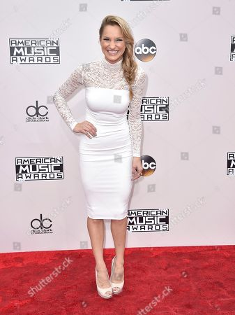 Chelsea Briggs arrives at the American Music Awards at the Microsoft Theater, in Los Angeles