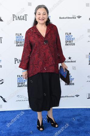 Actress Robin Bartlett arrives at the Film Independent Spirit Awards, in Santa Monica, Calif