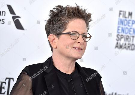 Phyllis Nagy arrives at the Film Independent Spirit Awards, in Santa Monica, Calif
