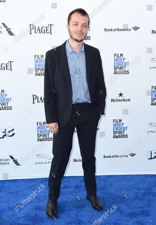 Stock Photo of Felix Thompson arrives at the Film Independent Spirit Awards, in Santa Monica, Calif