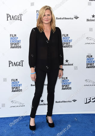 Stock Picture of Laura Gabbert arrives at the Film Independent Spirit Awards, in Santa Monica, Calif