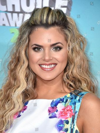Isabella Castillo arrives at the Kids' Choice Awards at The Forum, in Inglewood, Calif