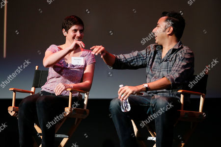 Editors Moira Demos, left, and Kabir Akhtar, ACE participate during the 2016 Prime Cuts hosted by the Television Academy in the Wolf Theater on in the NoHo Arts District in Los Angeles