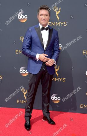 Louis Aguirre arrives at the 68th Primetime Emmy Awards, at the Microsoft Theater in Los Angeles
