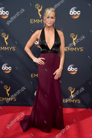 Stock Image of Carrie Aizley arrives at the 68th Primetime Emmy Awards, at the Microsoft Theater in Los Angeles