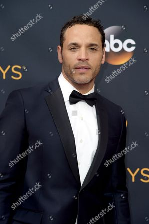Daniel Sunjata arrives at the 68th Primetime Emmy Awards, at the Microsoft Theater in Los Angeles