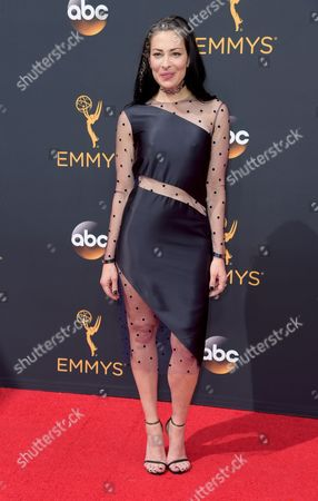 Stacy London arrives at the 68th Primetime Emmy Awards, at the Microsoft Theater in Los Angeles