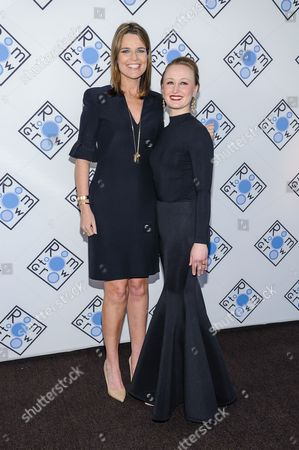 Savannah Guthrie and Allyson Crawford attend the 2016 Room To Grow Benefit, to support babies born into poverty, at Tribeca Three Sixty, in New York