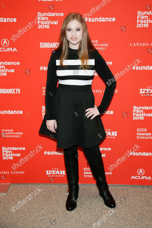 "Stock Image of Actress Sara Rodier poses at the premiere of ""Certain Women"" during the 2016 Sundance Film Festival, in Park City, Utah"