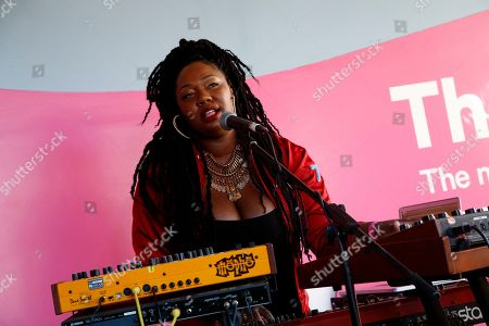 Anita Bias, Paris Strother, and Amber Strother (L-R) of King performs at the Spotify House at South by Southwest Music Festival, in Austin, TX