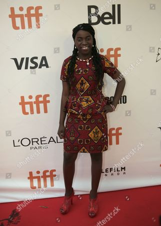 Phiona Mutesi attends the Queen of Katwe premiere on day 3 of the Toronto International Film Festival at Roy Thomson Hall, in Toronto