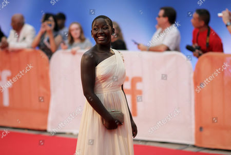 Madina Nalwanga attends the Queen of Katwe premiere on day 3 of the Toronto International Film Festival at Roy Thomson Hall, in Toronto