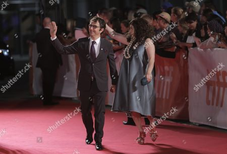 Atom Egoyan, left, and Arsinee Khanjian attend The Promise premiere on day 4 of the Toronto International Film Festival at Roy Thomson Hall, in Toronto