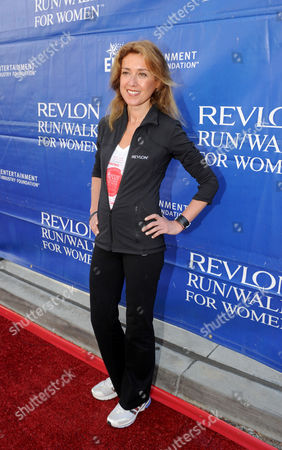 CMO of Revlon Julia Goldin arrives at the 20th Annual EIF Revlon Run/Walk For Women held at Los Angeles Memorial Coliseum at Exposition Park on in Los Angeles, California