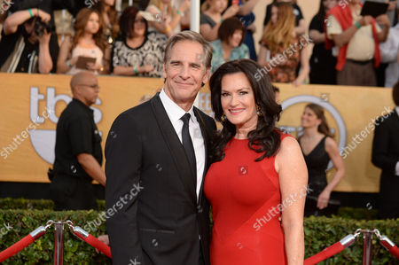 Scott Bakula and Chelsea Field arrive at the 20th annual Screen Actors Guild Awards at the Shrine Auditorium, in Los Angeles