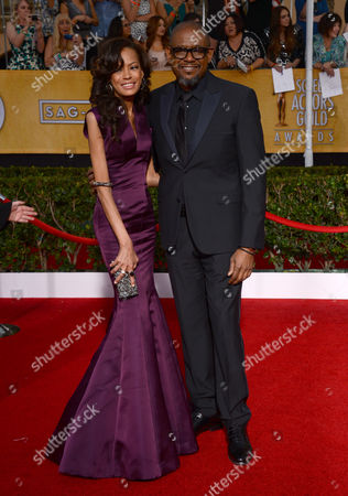Stock Picture of Keisha Nash Whitaker and Forest Whitaker arrive at the 20th annual Screen Actors Guild Awards at the Shrine Auditorium, in Los Angeles