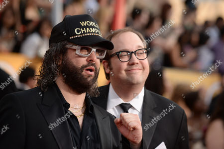 Stock Photo of Judah Friedlander and John Lutz arrive at the 20th annual Screen Actors Guild Awards at the Shrine Auditorium, in Los Angeles