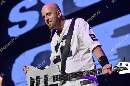 Shavo Odadjian, of System of a Down, performs at the 25th annual KROQ Almost Acoustic Christmas at The Forum, in Inglewood, Calif